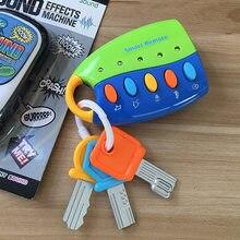 Engraçado brinquedo do bebê musical carro chave vocal inteligente remoto carro vozes fingir jogar brinquedos educativos para crianças música do bebê brinquedos
