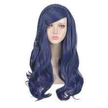 Halloween Morematch Descendants 2 Evie Adult Cosplay Wig Long Curly Blue Synthet
