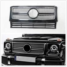 Negro frente superior parrilla para Mercedes-Benz clase G W463 G63 G550 G500 G350 AMG estilo 1999-2018 Red de parrillas