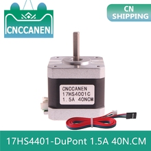Stepper-Motor Nema 17hs4401-Dupont 3d-Printer Motor-4-Lead 40mm 2 for CNC 40N.CM 1/3/5pcs