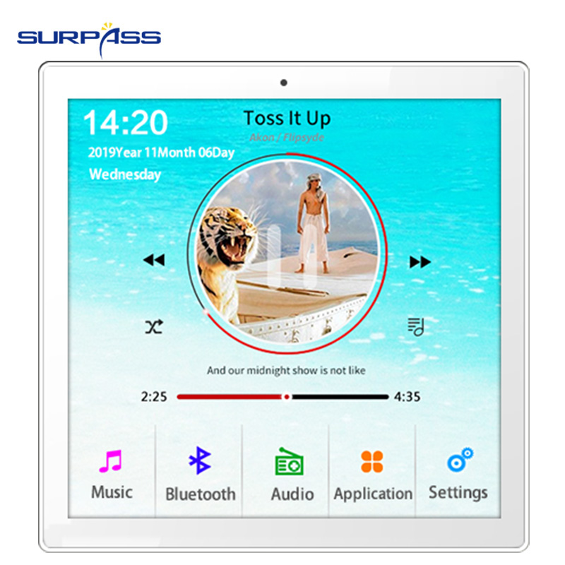 Home New Mini WiFi Bluetooth Touch Screen In Wall Audio Music Center Sound Amplifier tv tablet Smart Digital Stereo fm Amplifier 4