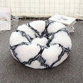 Plush cat kennel round pet bed dog bed warm cat cushion pet cushion tie-dye series in winter