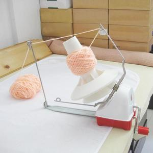 Image 4 - ביתי סוויפט חוט סיבים מחרוזת כדור צמר יד מופעל המותח מחזיק מכונת הגדלה של השחלה חורים לשפר