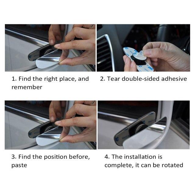 DSYCAR 1 Paar Blind Spot Spiegel, hilfs Rückspiegel HD Konvexen Spiegel Geeignet für Alle Universal Fahrzeuge Autos und Treiber