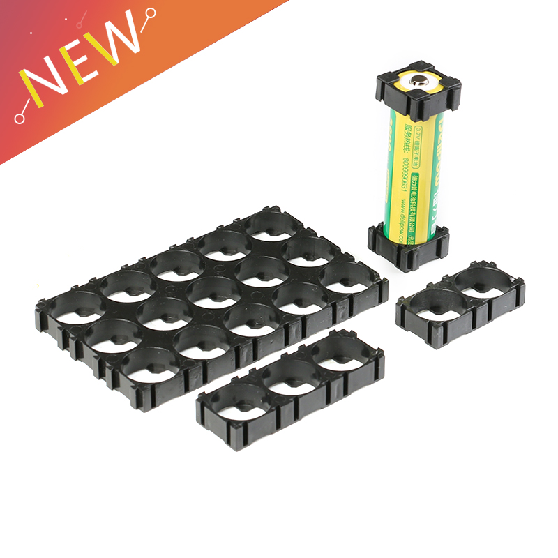 Top Deals 20 Pcs 18650 Lithium Cell Cylindrical Battery Case Holder Bracket 1p For DIY Battery Pack