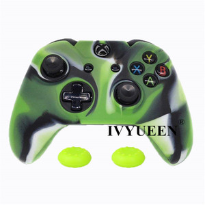 Image 5 - IVYUEEN Soft Silicone Rubber Protective Skin Case Cover For Microsoft Xbox one 1 Controller Gamepad Black Green Blue Red Camo