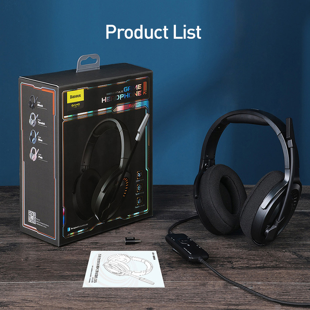 Baseus D05 3D Stereo Gaming Headphone USB/Type-C Colorful LED Light 6