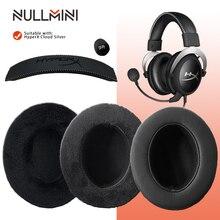 NullMini החלפת Earpads עבור HyperX ענן כסף אוזניות בגימור לעבות רך עור וקטיפה Earmuff שרוול אוזניות