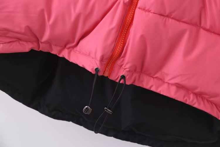 ZA 女性のファッション冬アヒルダウンジャケットピンクフード付き襟長袖ルーズ入り厚みのフェザーパイロットジャケットコート