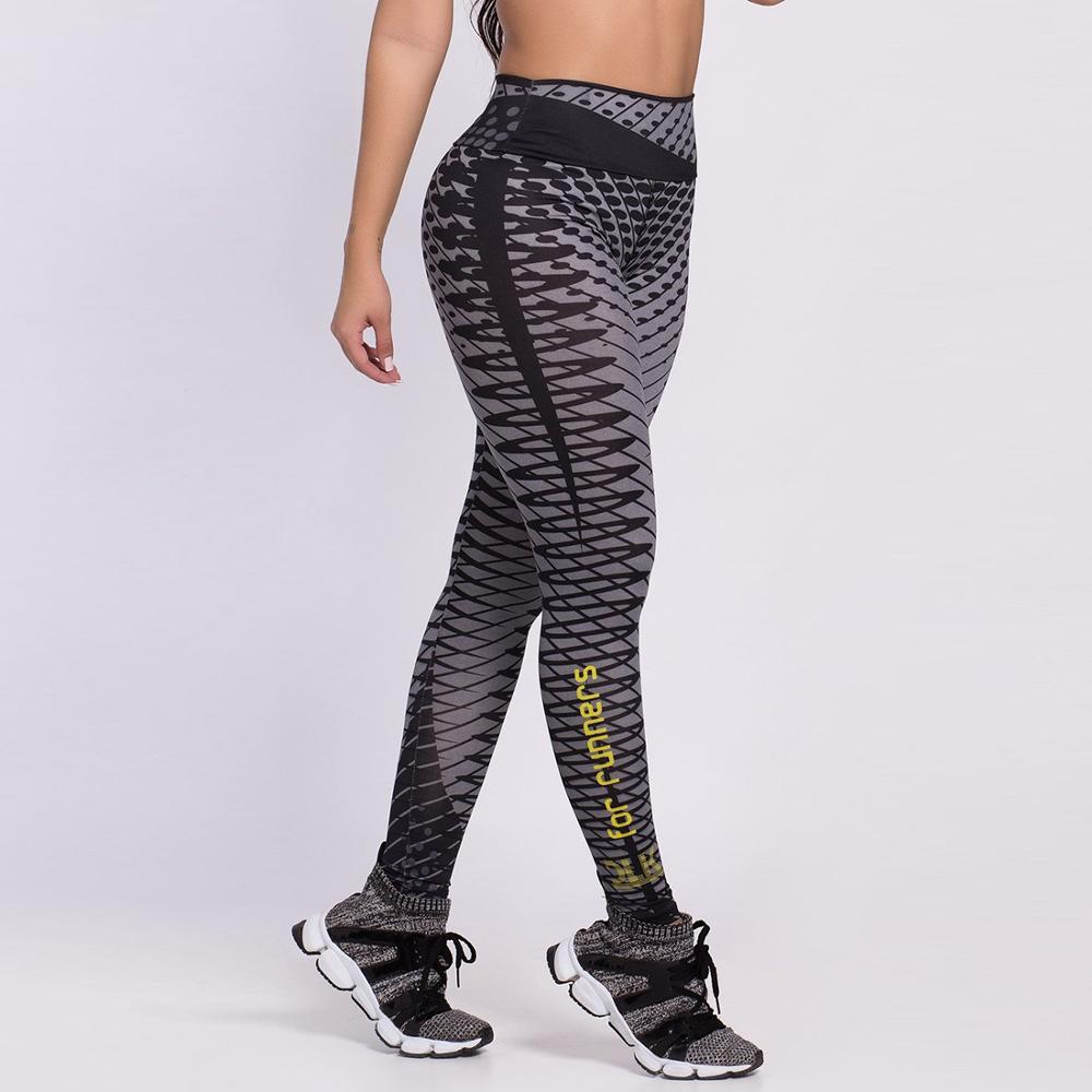 Sporting Workout High Waist Polyester Outdoor Ladies Leggings Elastic Force Breathable Skinny Leggings For Women
