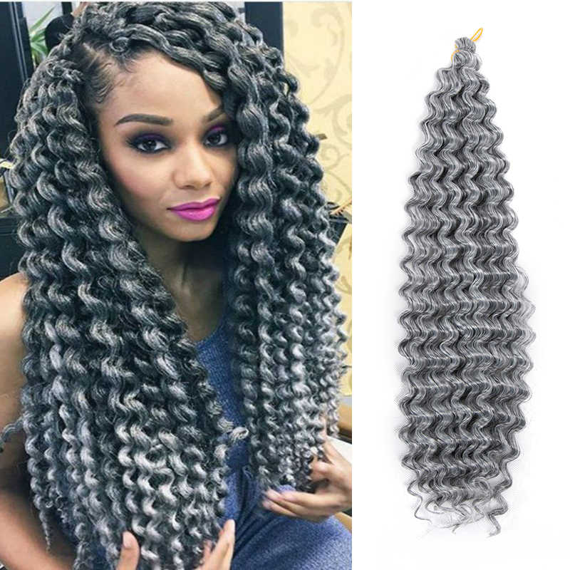 synthetic ombre afro curly crochet braiding hair extension 22inch long 80g one piece braids hair