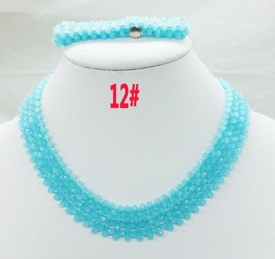 Новая цена-Африка, Нигерия, самый популярный ювелирный набор с кристаллами для невесты - Окраска металла: 12
