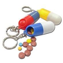 Mini boîte à pilules créative, boîte à médicaments, Cache porte-médicaments, porte-clé, porte-clés, boîte à médicaments, soins de santé