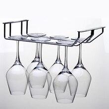 Винный Стеллаж Из Нержавеющей Стали, Однорядный и двухрядный винный Стеклянный Стеллаж, настенный шкаф для хранения вина WF910135