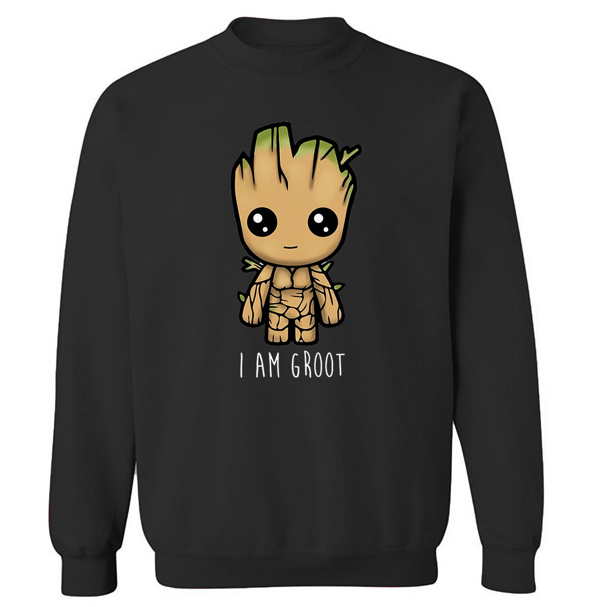 Avengers I'M GROOT Printed Sweatshirts Male Autumn Winter 2019 New Fashion O-Neck Pullover Men Harajuku Fleece Men's Sweatshirt