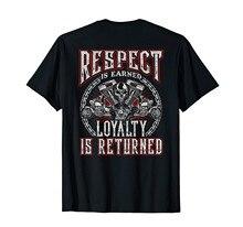 Crânio motociclista camisa motocicleta respeito ganhou lealdade devolvido