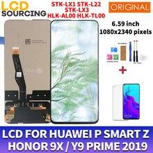 Original para huawei p inteligente z STK LX1 lcd tela de toque digitador assembléia para honra 9x lcd substituir HLK AL00 para y9 prime 2019