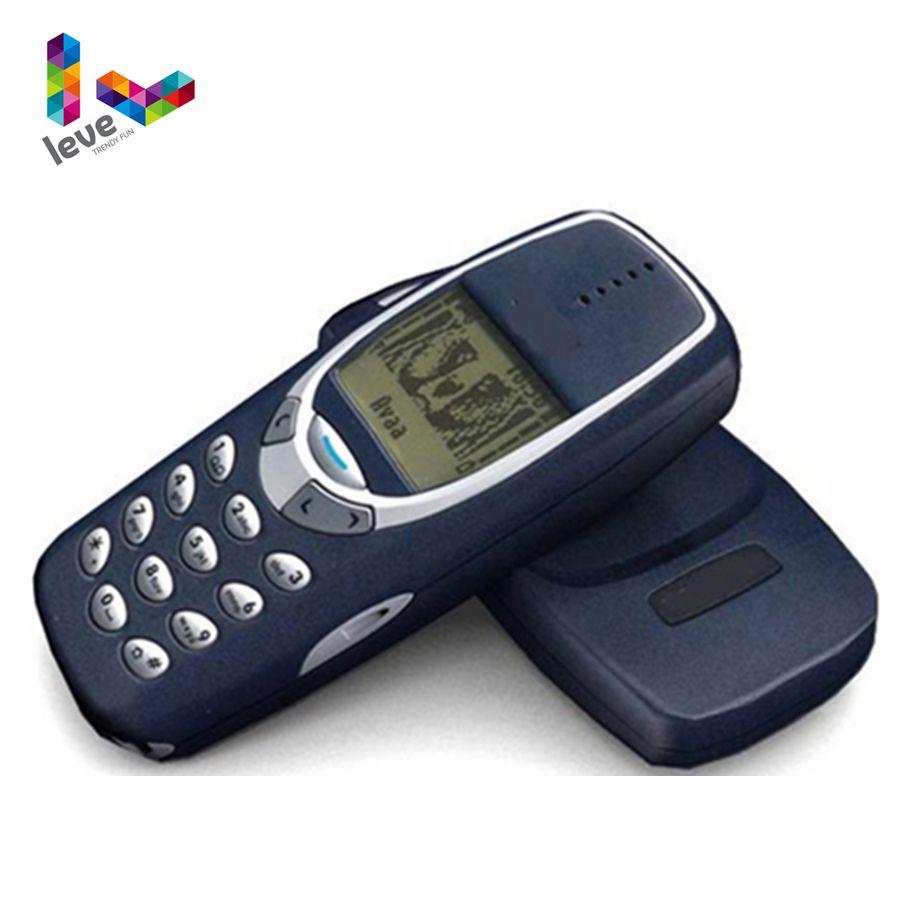Original Desbloqueado Nokia 3310 Remodelado Telefone GSM 900/1800 Suporte Teclado Russo & Árabe Multi-Idioma Frete Grátis