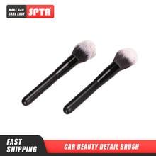 Spta escova macia para limpeza de pó, escova automotiva com detalhe de beleza, 18cm, escova para limpeza de interiores