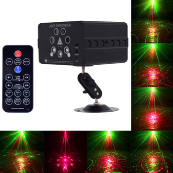 120 Patterns RGB Mini Laser Projector Light DJ Disco Party Music Laser Stage Lighting Effect With LED Blue Xmas Lights