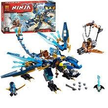 BELA 06027 Ninjagoed Elemental Dragon 350pcs Building Kit Building Block Set Cyrene Monkey Toy Compatible with 70602