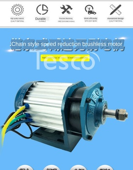 Electric tricycle chain motor 60v72v1500w high power brushless central 3000w motor 48 48v 60v dc 500w electric tricycle brushless dc gear motor 2800rpm e tricycle accessories bm1418zxf for tricycle motocycle car