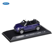 цена на WELLY  1:43 MINI CABRIO  car alloy car model simulation car decoration collection gift toy Die casting model boy toy