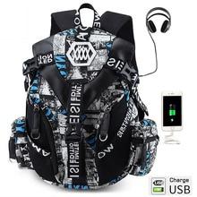 "Crossten 高品質 Fashional 14 15 ""ラップトップバックパック USB 充電ポート通学防水 mochila masculina ハイキング旅行バッグ"