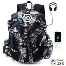 """كروستن عالية الجودة Fashional 14 15 """"محمول على ظهره منفذ شحن USB حقيبة مدرسية مقاوم للماء mochila الذكور المشي لمسافات طويلة حقائب السفر"""