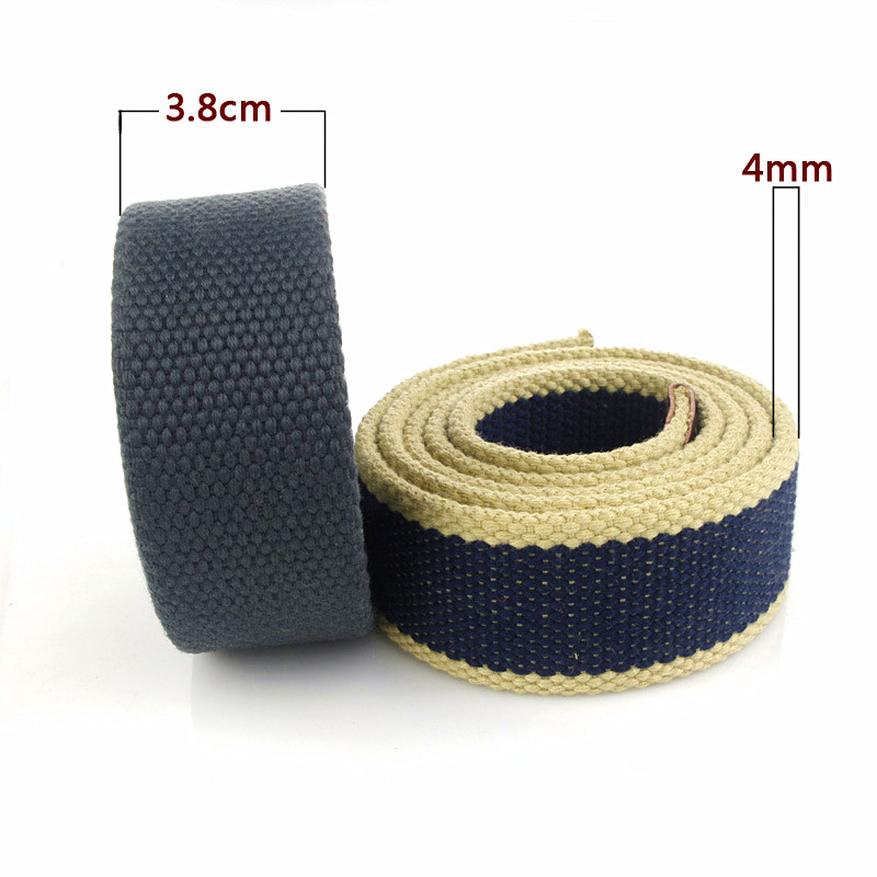 Men's Tactical Canvas Belt Width 38MM Quality Fashion Alloy Military Outdoor Casual Accessories Double-ring Trendy Belts Women