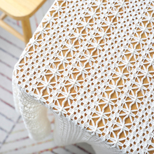 Fowecelt Hollow Out Macrame Table Runner Modern Boho White Wedding Dining Table Decoration Aesthetic Room Decor