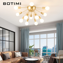BOTIMI Vintage LED Ceiling Light For Foyer Golden Metal Surface Mounted Bedroom Lamp Kitchen Dining Lamps Rooms Lighting