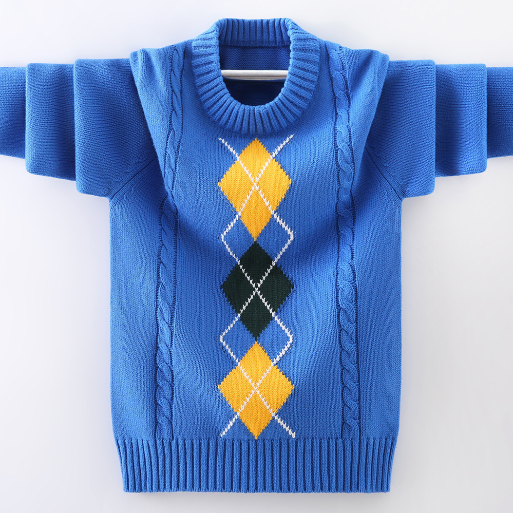 boys pullover knitting  Sweater Children's sweater  Winter Children's clothing New  Cotton Clothing Keep warm O-Neck Sweater 3