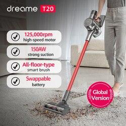 Dreame T20 aspirapolvere portatile a batteria spazzola intelligente per tutte le superfici 25kPa aspiratore per moquette da pavimento tutto In uno