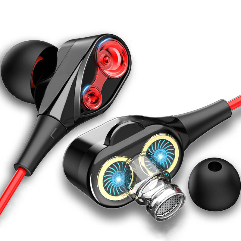 Dual Drive Stereo Wired Earphone In-Ear Sport Headset With Mic Mini Earbuds Earphones For IPhone Samsung Huawei Xiaomi Earpieces