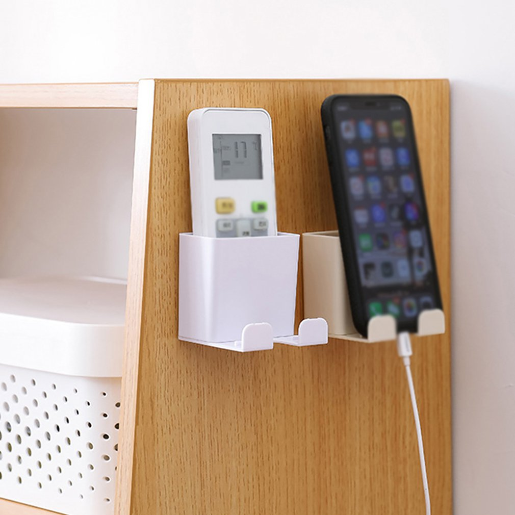 Creative Convenient Mobile Phone Charging Bracket Multi-Purpose Wall-Mounted Remote Control Storage Box