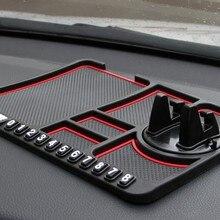 Многофункциональный автомобильный Противоскользящий коврик автомобильный держатель для телефона нескользящий Липкий Противоскользящий коврик для телефона силиконовый коврик для приборной панели автомобиля