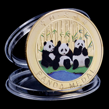 Gold Silver Color panda commemorative coin Metal crafts Gifts Home Decoration Accessories Challenge Coin Art Collection gold silver color panda commemorative coin metal crafts gifts home decoration accessories challenge coin art collection