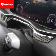 Car Styling For Audi A6 C7 Stainless Steel Dashboard Trim Central control panel decoration Cover Stickers Interior Auto Accessor