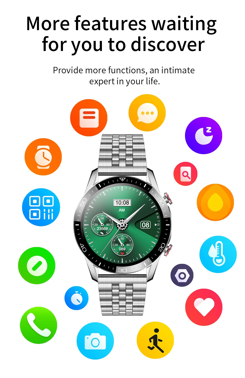 H804598b024954f009df3956d26cfb33c3 New Smart Watch Men Bluetooth Call TK2-8 IP68 Waterproof Heart Rate Blood Pressure SmartWatch Fitness Tracker Sports Android IOS