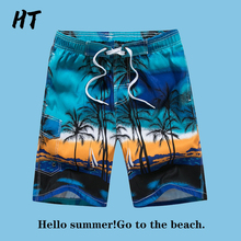 Briefs Short Swimsuit Boxer Print Quick-Drying Sexy Beach Summer New-Arrival