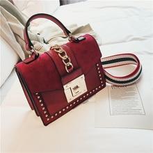 Luxury Handbags Women Bags Designer Rivet crossbody bags for women 2019 Fashion Small Messenger Shoulder bag ladies Hand Bag Red