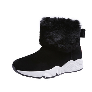 Image 5 - SWYIVY PU Snow Booties Wedge Shoes Woman Winter Boots 2019 Warm Casual Slip On Ladies Shoe Ankle Boots For Women Shoes Platform