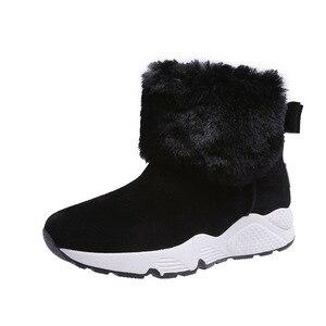 Image 5 - SWYIVY PU Tuyết Boot Đế Độn Người Phụ Nữ Mùa Đông Giày 2019 Ấm Giày Slip On Nữ Giày Mắt Cá Chân Giày Cho Nữ giày Nền Tảng