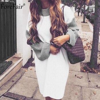 Γυνακείο oversized Πουλόβερ mini Φόρεμα Ζεστό Χειμώνας