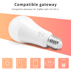 Image 2 - GLEDOPTO LED ZIGBEE ZLL 12W RGB + CCT glühbirne Bunte birne AC100 240V RGBCCT 2700 6500K led lampe kompatibel mit Amazon echo plus