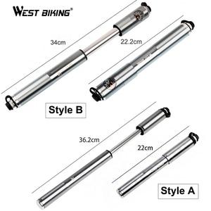 Image 5 - WEST BIKING bomba de aire para inflar alta presión aluminio, Para neumáticos de bicicleta, válvula Presta Schrader, 160PSI