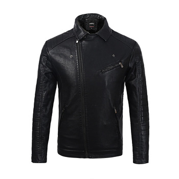 2019 New Men's Autumn And Winter Men High Quality Fashion Coat Leather Jacket Motorcycle Style Male Business Casual Jackets