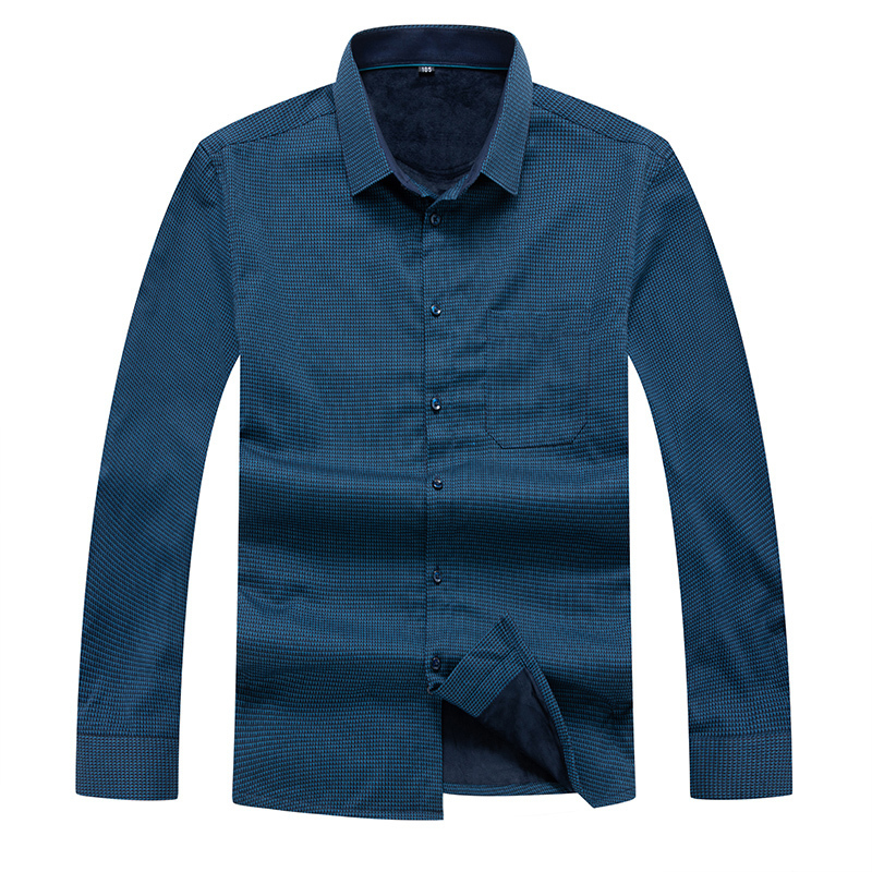 Plus Size 8XL 7XL 6XL Shirt Men Winter Clothes New Casual Thick Warm Shirt Mens Cashmere Long-sleeved Shirts Simple Streetwear