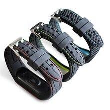 Браслет для xiaomi mi band 3 4 5 спортивные часы силиконовый
